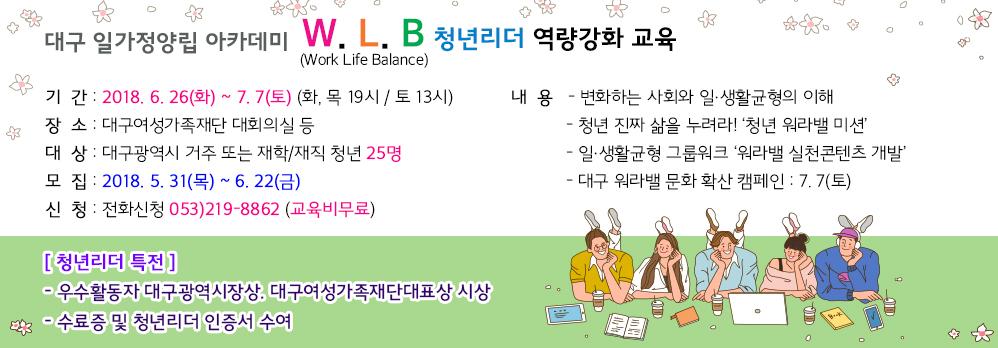 W.L.B 청년리더 역량강화 교육